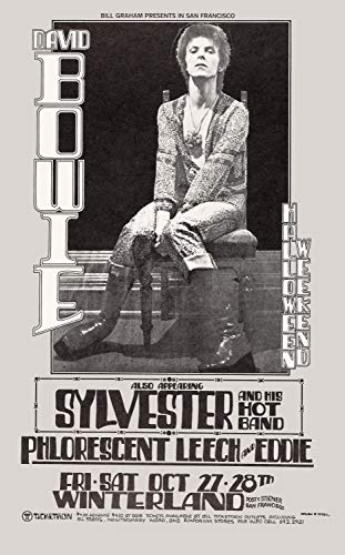 12 x 18 Poster David Bowie at Winterland Concert Poster 1977 On Halloween]()