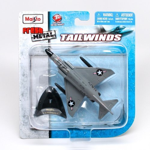 (F-4 Phantom II Supersonic Jet Interceptor (US Navy / USS Saratoga) * Tailwinds * 2011 Maisto Fresh Metal Series Die-Cast Vehicle Collection)