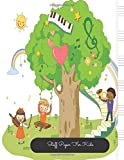 Staff Paper For Kids: Tree Large, Empty Staff, Manuscript Sheets Notation Paper For Composing For Musicians, Students, Songwriting. Book Notebook Journal 100 Pages 8.5x11