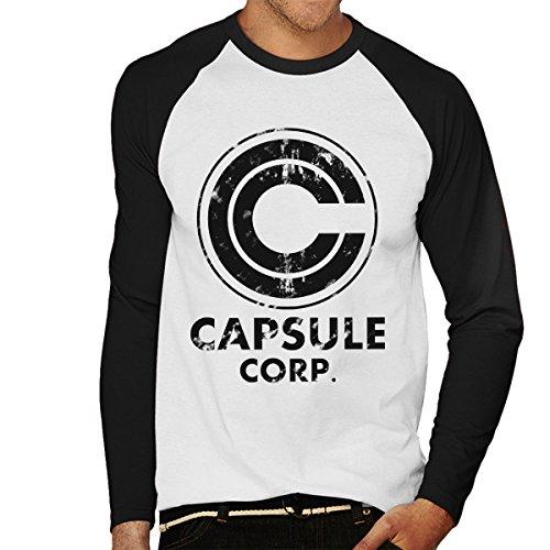 Reality Glitch/'s Men/'s Capsule Corp Baseball T-Shirt Long Sleeve
