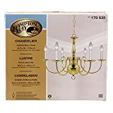 Hampton Bay Polished Brass Finish 6-light Chandelier For Sale