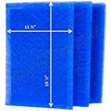 MicroPower Guard Replacement Filter Pads 13x22 Refills (3 Pack) BLUE