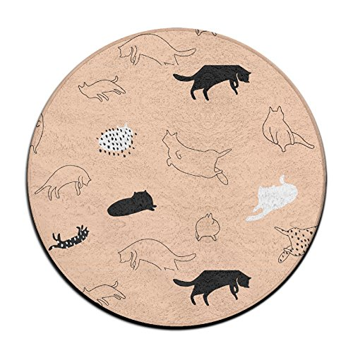 8' Slip Connector (4-Feet Round Area Rugs, Soft Shag These Cat Carpet Round Carpet Rug Mat For Living Room Bedroom Home Any Floor & Carpet)