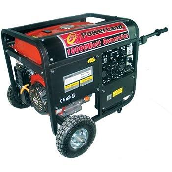 Powerland PD10000E, 8000 Running Watts/10000 Starting Watts, Gas Powered Portable Generator