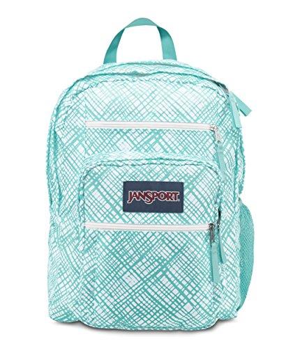 JanSport Big Student Classics Series Backpack - Aqua Dash Jagged Plaids ()