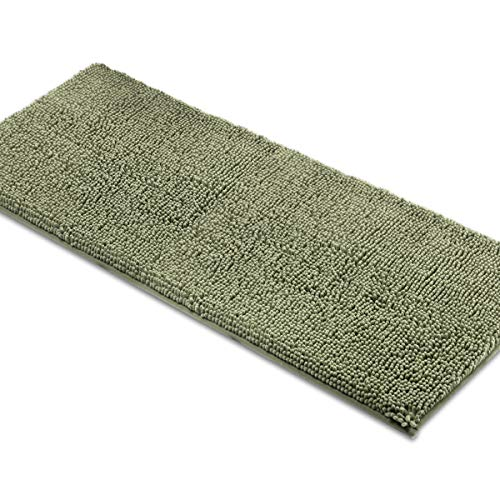 MAYSHINE Bath mat Runners for Bathroom Rugs,Long Floor mats,Extra Soft, Absorbent, Thickening Shaggy Microfiber,Machine-Washable, Perfect for Doormats,Tub, Shower (27.5x47 inches, Sage Green) ()