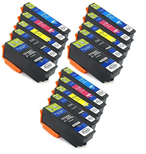 MPC DIRECT Compatible Ink Cartridge Replacement for Epson T273XL (3xBlack, 3xCyan, 3xMagenta, 3xYellow, 3xPhoto Black, 15-Pack)
