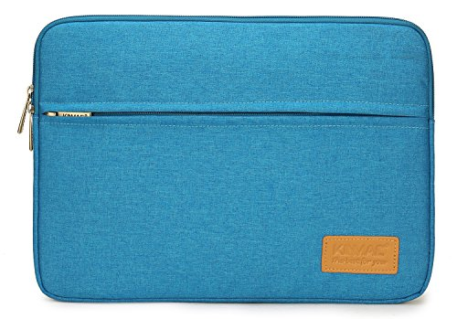 Kinmac Blue 15 inch Waterproof Laptop Sleeve with Pocket for 15 inch 15.6 inch Laptop and MacBook pro 15