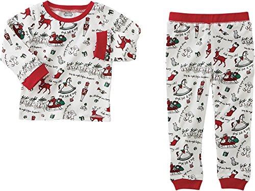 Mud Pie Unisex Very Merry Christmas Pajamas Red 3T