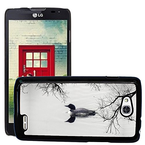 Just Phone Cases Slim Protector Hard Shell Cover Case // M00128198 Loon Duck Goose Water Bird Feathered // LG Optimus L90 D415 (Loon Water)