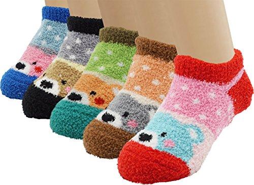 Toddler Baby's Super Soft Fuzzy Anti-slip Socks
