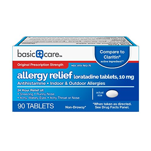 Basic Care Allergy Relief Loratadine Tablets, 90 Count