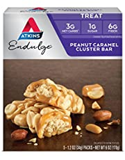 Atkins Endulge Treat Bars, Chocolate Coconut, 1g Sugar, 3g Net Carbs, 7-Ounce, 5-Bars (Packaging May Vary)