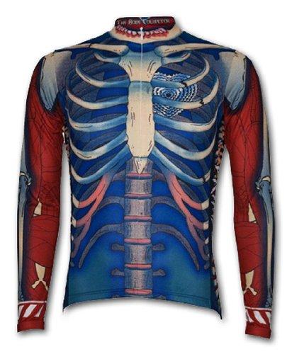 Primal Wear Bone Collector Skelett Cycling Jersey Herren Long Sleeve