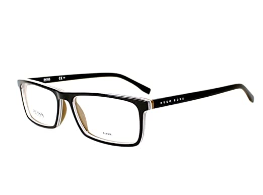 Amazon.com  Optical frame Hugo Boss Acetate Black (BOSS 0765 QHI ... f164b446f566