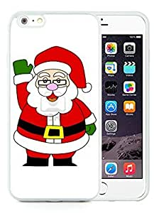 Custom Design iPhone 6 Plus Case,Santa Claus White iPhone 6 Plus 5.5 TPU Case 24