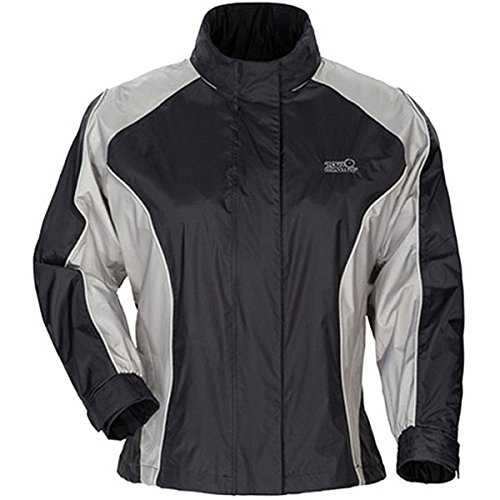Womens Sentinel Rain Jacket - Tour Master Sentinel Women's Jackets Street Racing Motorcycle Rain Suits - Black/X-Large