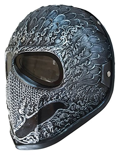 [Invader King CROW Paintball Mask Airsoft Mask Protective Gear Outdoor Sport Fancy Party Ghost Masks Bb] (Deathstroke The Terminator Costume)