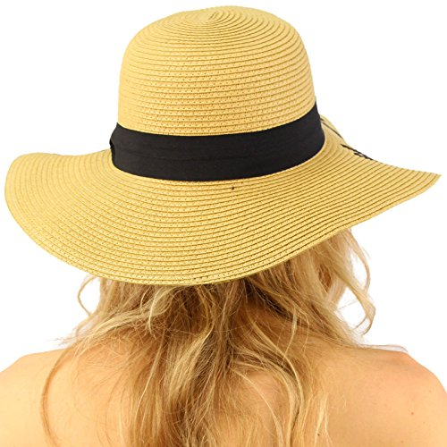 8b2d392a605e8 C.C Always on Vacay Wide Brim 4  Summer Derby Beach Pool Floppy Dress Sun  Hat - 43216-96529   Sun Hats   Clothing