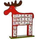 WeRChristmas Wooden Reindeer Advent Calendar