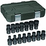 GearWrench 84918 3/8-Inch Drive Universal Impact Socket Set Metric, 15-Piece