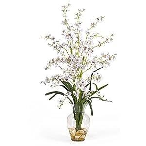 SKB Family Dancing Lady Liquid Illusion Silk Flower Arrangement Home Wedding Party Deco White