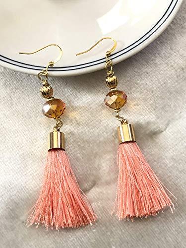 Orange & Peach silk Tassel Earrings