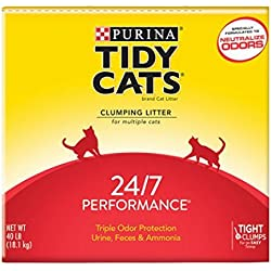 Purina Tidy Cats Clumping Litter 24/7 Performance for Multiple Cats 40 lb. Box