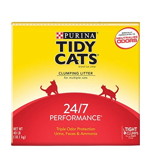 Purina Tidy Cats Clumping Litter 24/7 Performance for Multiple Cats 40 lb. 2 Box