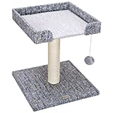 Cheap Ollieroo Cat Tree Tower 17″ Scratching Post with Top Perch Mixed Color