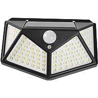 Fenteer Solar Lamba 100 LED PIR Hareket Sensörü Dış Duvar Lambası IP65 Bahçe Terası - 1 Adet