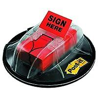 """Banderas de mensaje post-it, """"Firmar aquí"""", Rojo, Ancho de 1 pulgada, 200 /Dispensador de empuñadura de escritorio, 1-Dispensador /Paquete (680-HVSHR)"""