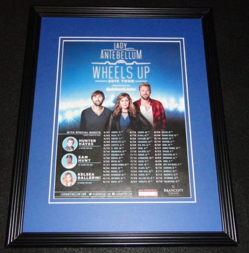Lady Antebellum 2015 Wheels Up Tour Framed 11x14