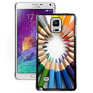 NEW DIY Unique Designed Samsung Galaxy Note 4 Phone Case For Circle Of Colored Pencils Phone Case Cover