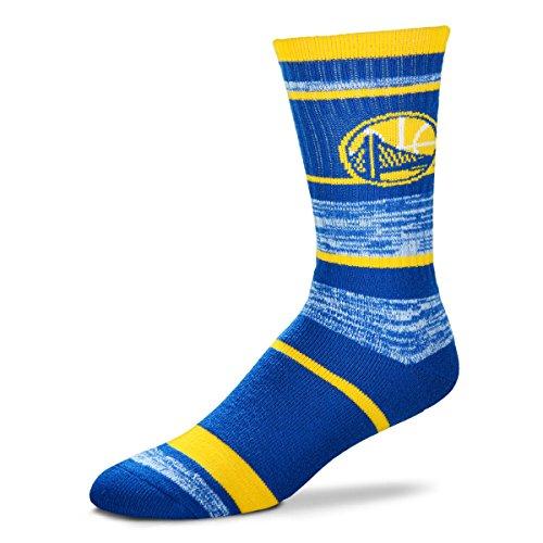 For Bare Feet NBA Golden State Warriors Men's Socks (504 RMC Stripe) Large by For Bare Feet