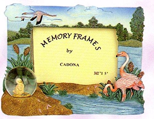 Decorative Flamingo Picture Frame wih mini water globe, 6