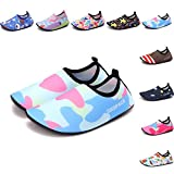Sixspace Kids Water Shoes Swim Shoes Quick-Dry Barefoot Sock Shoes for Beack Swim Pool Yoga,Blue 32/33