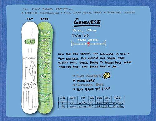【Dinosaurs will die】ダイナソーウィルダイ GENOVESE 151cm SNOWBOARD 板 スノーボード フラットキャンバーボード