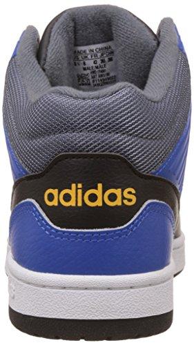 adidas Hoops Jumpshot Mid, Zapatillas de Deporte para Hombre Varios colores (Negro (Negbas / Negbas / Azul))