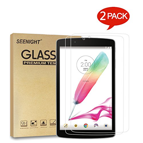 [2 Pack] LG G Pad F 8.0/G Pad II 8.0 Tempered-Glass Screen Protector, for LG G Pad F 8.0 [ AT&T V495 AK495 ]/G Pad II [ T-Mobile V496 UK495 V498 ] 8-inch Android Tablet by SEENIGHT