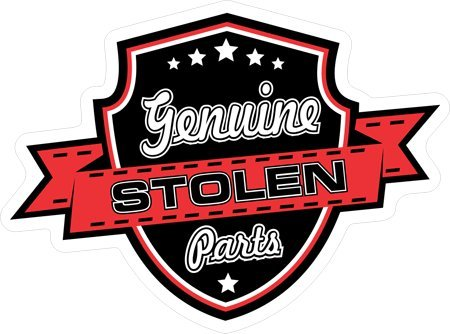 2pcs Genuine Stolen Parts #5 OLDSCHOOL hot rod Rat piss Gangster youngster MOB Rockabilly 1950s Round Bumper Sticker Decal (4 Inch) DECAL Sticker of street sign - Old School Snowboard Helmet