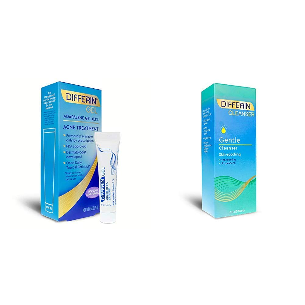 Amazon Com Differin Adapalene Gel 0 1 Acne Treatment And Gentle