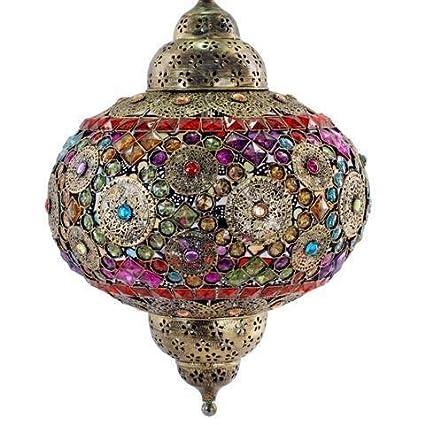 Lampara de Techo India Colores 60x42 cm: Amazon.es: Hogar