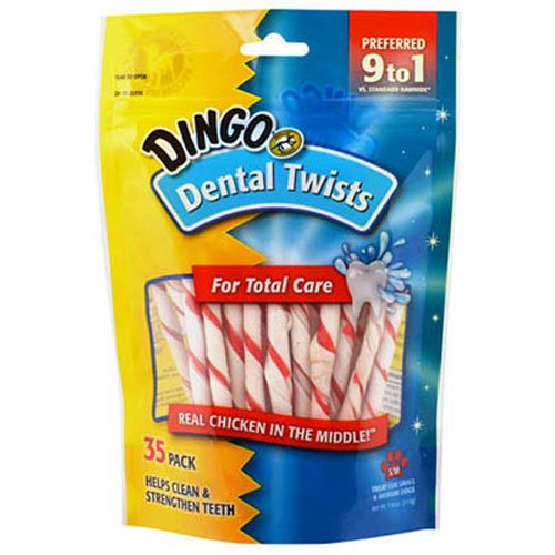 Dingo Dental Twists for Small and Medium Dogs,