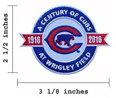 2016 Chicago Cubs A Century of Cubs At Wrigley Field Embroidered Iron On Patch.