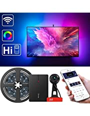 """LED TV Backlights, Govee Dreamcolour WiFi Television Backlights Kit with Camera, Compatible with Alexa Google Assistant Sync with Music, TV Ambient Bias Lighting for 55""""-80"""" TV Calibrate on APP"""
