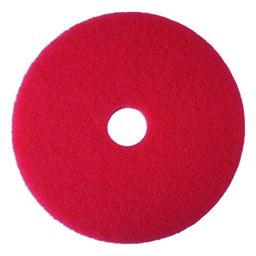 "3M Buffer Pad 5100, 17"", 5/Case, Red"