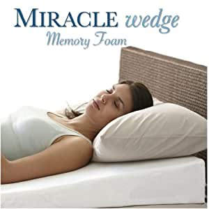 Amazon Com Memory Foam Wedge Pillow For Acid Reflux