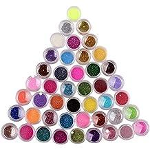 45 Colors Nail Art Make Up Body Glitter Shimmer Dust Powder Decoration by NYKKOLA
