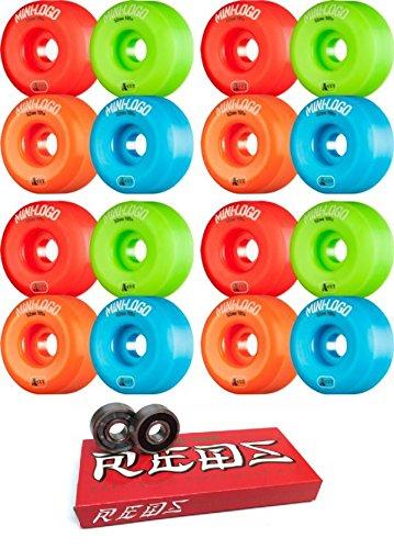 52 mm Miniロゴa-cutスケートボードWheels with Bones Bearings – 8 mmスケートボードベアリングBones Super Redsスケート定格 – 2アイテムのバンドル   B079YSLQZ6